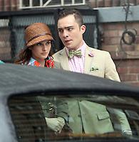 August 10, 2012  Ed Westwick,  Leighton Meester shooting on location for  Gossip Girl in New York City.Credit:© RW/MediaPunch Inc. /NortePhoto.com*<br /> <br /> **CREDITO*OBLIGATORIO** <br /> *No*Venta*A*Terceros*<br /> *No*Sale*So*third*<br /> *** No Se Permite Hacer Archivo**