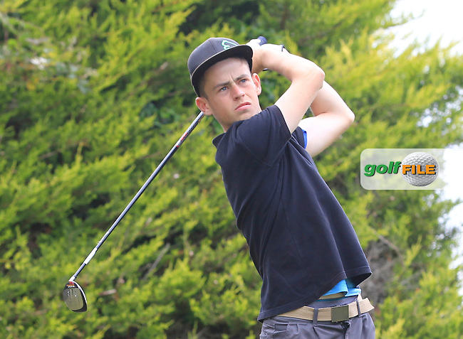 Stephen Keliher (Killarney) on the 1st tee during Round 2 of the Irish Boys Amateur Open Championship at Tuam Golf Club on Wednesday 24th June 2015.<br /> Picture:  Thos Caffrey / www.golffile.ie