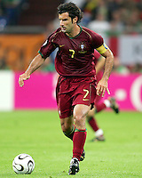 Luis Figo (7) in action for Portugal. Portugal defeated Mexico 2-1 in their FIFA World Cup Group D match at FIFA World Cup Stadium, Gelsenkirchen, Germany, June 21, 2006.