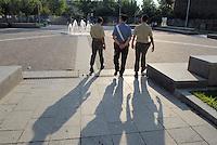 - soldiers and Police in security service in Baggio, suburb of Milan....- militari e Carabinieri in servizio di sicurezza a Baggio, quartiere periferico di Milano