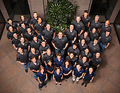 A large group photo of UnboundID, an Austin technology company. Photo by Austin corporate photographer, Matthew Lemke