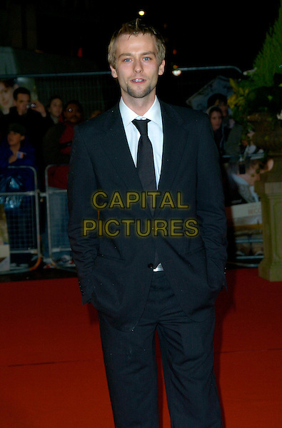 "JOE ANDERSON.""Becoming Jane"" World Premiere, Odeon West End, .London, England, March 4th 2007..half 3/4 length black suit.CAP/CAN.©Can Nguyen/Capital Pictures"