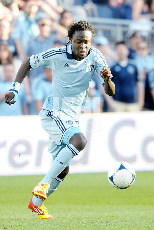 Kei Kamara (23) Sporting KC midfielder in action... Sporting KC defeated FC Dallas 2-1 at LIVESTRONG Sporting Park, Kansas City, Kansas.