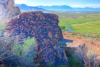 Ancient Fremont rock art, Wasatch Mountains, Utah, Near Great Salt Lake, Ancient Native American rock art