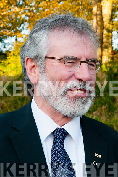 Gerry Adams at the unveiling of the Con Colbert memorial  in Athea on Saturday last.