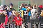 AIB GAA football all-Ireland junior club championship semi-final, Fuerty vs Keel. Held on saturday in Mick Neville Park, Rathkeale.<br /><br />Picture of Happiness : Fuerty's players and fans  celebrating after the final whistle on saturdy.