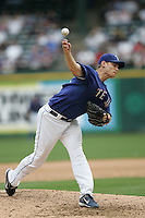 Texas Rangers P Jamey Wright against the Seattle Mariners on May 14th, 2008 at Texas Rangers Ball Park in Arlington, Texas. Photo by Andrew Woolley .