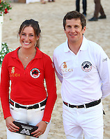 Guillaume Canet & Jessica Springsteen attend the Pro Am Cup Monaco during the Monte-Carlo Jumping