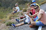 Fans await the race on the final Cat 1 climb up to Observatorio Astrofisico de Javalambre during Stage 5 of La Vuelta 2019 running 170.7km from L'Eliana to Observatorio Astrofisico de Javalambre, Spain. 28th August 2019.<br /> Picture: Eoin Clarke | Cyclefile<br /> <br /> All photos usage must carry mandatory copyright credit (© Cyclefile | Eoin Clarke)