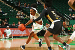 DENTON, TX - JANUARY 16: North Texas Mean Green Women's Basketball team v USM at Super Pit - North Texas Coliseum on January 16, 2020 in Denton, Texas.