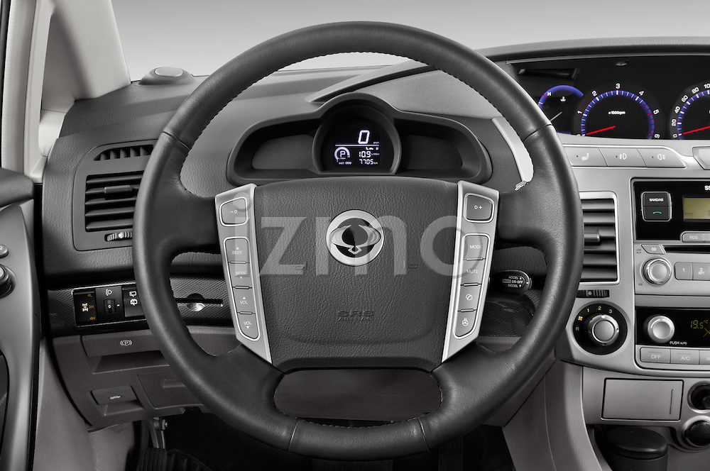 Car pictures of steering wheel view of a 2014 Ssangyong Rodius Sapphire 5 Door Minivan Steering Wheel