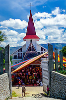 Indonesia, Sumatra. Samosir. A Batak church not far from Simanindo, north Samosir.