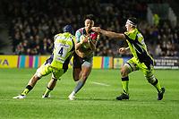 Harlequins' Marcus Smith in action during todays match<br /> <br /> Photographer Bob Bradford/CameraSport<br /> <br /> Aviva Premiership - Harlequins v Sale Sharks - Friday 6th October 2017 - Twickenham Stoop - London<br /> <br /> World Copyright &copy; 2017 CameraSport. All rights reserved. 43 Linden Ave. Countesthorpe. Leicester. England. LE8 5PG - Tel: +44 (0) 116 277 4147 - admin@camerasport.com - www.camerasport.com