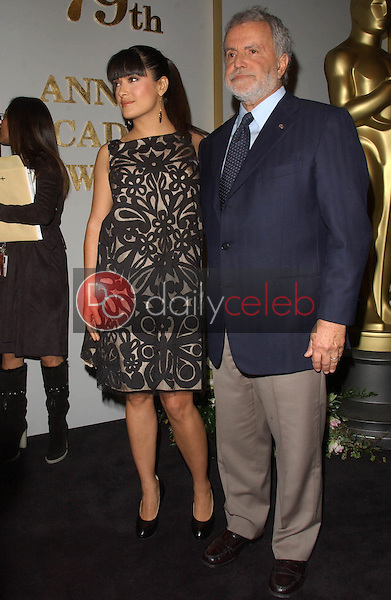 Salma Hayek and Sid Ganis<br />