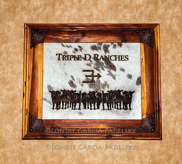 Framed picture with the Triple D Ranch brand at the Dowers Ranch in Dyer, Nevada