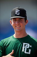 Andrew Painter (23) of Calvary Christian Academy in Pompano Beach, FL during the Perfect Game National Showcase at Hoover Metropolitan Stadium on June 20, 2020 in Hoover, Alabama. (Mike Janes/Four Seam Images)