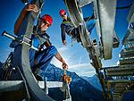 Verbier, le 8 et 9 Novembre 2015, Damien Abbet et Bertrand Le Brun, veille a la sécurité des remontées mécanique de Téléverbier   © sedrik nemeth