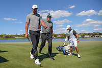 Brooks Koepka (USA) and Phil Mickelson (USA) head to 7 during round 1 of the Arnold Palmer Invitational at Bay Hill Golf Club, Bay Hill, Florida. 3/7/2019.<br /> Picture: Golffile | Ken Murray<br /> <br /> <br /> All photo usage must carry mandatory copyright credit (© Golffile | Ken Murray)