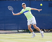 June 15th 2017, Nottingham, England; ATP Aegon Nottingham Open Tennis Tournament day 6;  John Millman of Australia in action returns during his game versus John-Patrick Smith