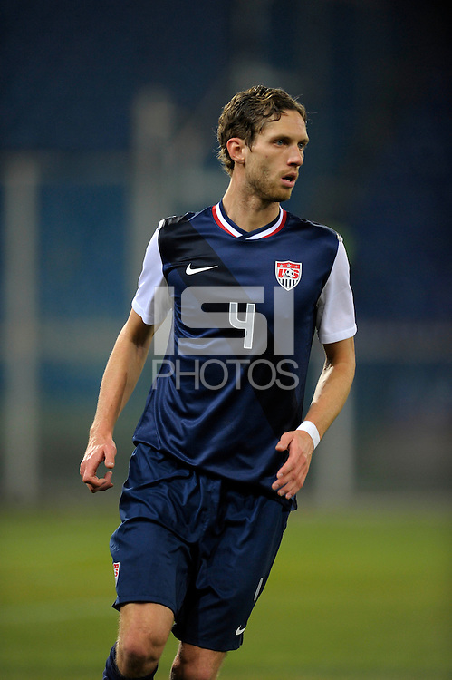 Clarence Goodson (USA), during the friendly match Italy against USA at the Stadium Luigi Ferraris at Genoa Italy on february the 29th, 2012.