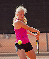 08-08-13, Netherlands, Rotterdam,  TV Victoria, Tennis, NJK 2013, National Junior Tennis Championships 2013, Loes Siderius<br /> <br /> <br /> Photo: Henk Koster
