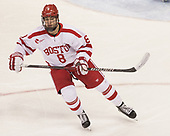 Ryan Cloonan (BU - 8) - The Boston University Terriers defeated the University of Massachusetts Minutemen 3-1 on Friday, February 3, 2017, at Agganis Arena in Boston, Massachusetts.The Boston University Terriers defeated the visiting University of Massachusetts Amherst Minutemen 3-1 on Friday, February 3, 2017, at Agganis Arena in Boston, MA.