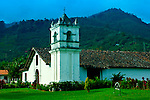 Costa Rica, Orosi, Iglesia de San Jose de Orosi, Built in 1743, Oldest Church In Use, Orosi Valley, Spanish Colonial Architecture,<br />