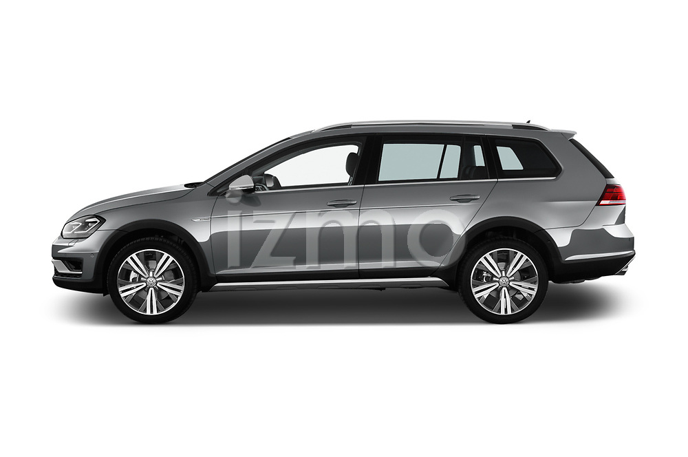 Car driver side profile view of a 2017 Volkswagen Golf Alltrack Base 5 Door Wagon