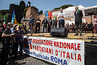 Nicola Zingaretti (President of Lazio's Region, Democratic Party, PD). <br /> <br /> Rome, 25/04/2018. Today, to mark the 73rd Anniversary of the Italian Liberation from nazi-fascism ('Liberazione'), ANED Roma & ANPI Roma (National Association of Italian Partizans) held a march ('Corteo') from Garbatella to Piazzale Ostiense where a rally took place attended by Partizans, Veterans and politicians – including the Mayor of Rome and the President of Lazio's Region. From the organisers Facebook page:<<For the 25th of April, the 73rd Anniversary of the Liberation of Italy from nazi-fascism, while facing new threats to the world peace, it is necessary to remember that the Fight for Liberation triggered the greatest, positive, 'break' of the whole modern age of the Italian history. The Fight for the Liberation was supported by a great solidarity of the people. The memory of those who in the partizan struggle, in the camps of imprisonment, internment or extermination, opposed - even until the sacrifice of life - the dictatorship, the greed of territorial conquests, crazy ideologies of race supremacy, constitutes concrete warning against any attempt to undermine the foundations of the free institutions born of the Resistance. Memory is not an instrument of hatred or revenge, but of unity in a spirit of harmony without discriminations...<br /> (For the full caption please read the PDF attached at the the beginning of this story).<br /> <br /> For more info please click here: https://bit.ly/2vOIfNf & https://bit.ly/2r4iJy3 & http://www.anpi.it<br /> <br /> For the Wikipedia's page of the 'Liberazione' please click here: https://en.wikipedia.org/wiki/Liberation_Day_(Italy)<br /> <br /> For a Video of the event by Radio Radicale please click here: https://www.radioradicale.it/scheda/539534/manifestazione-promossa-dallanpi-in-occasione-della-73a-festa-della-liberazione
