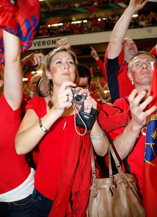 Photo: Richard Lane/Richard Lane Photography. .Munster v Toulouse. Heineken Cup Final. 24/05/2008. .Munster fans.
