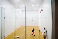 Dawg Days URec - students play raquetball at Sanderson.<br />  (photo by Megan Bean / &copy; Mississippi State University)