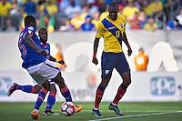 Action photo during the match Ecuador vs Haiti at MetLife Stadium Copa America Centenario 2016. ---Foto  de accion durante el partido Ecuador vs Haiti, En el Estadio MetLife Partido Correspondiante al Grupo - B -  de la Copa America Centenario USA 2016, en la foto: Jaime ayovi<br /> <br /> -- 12/06/2016/MEXSPORT/Javier Ramirez.
