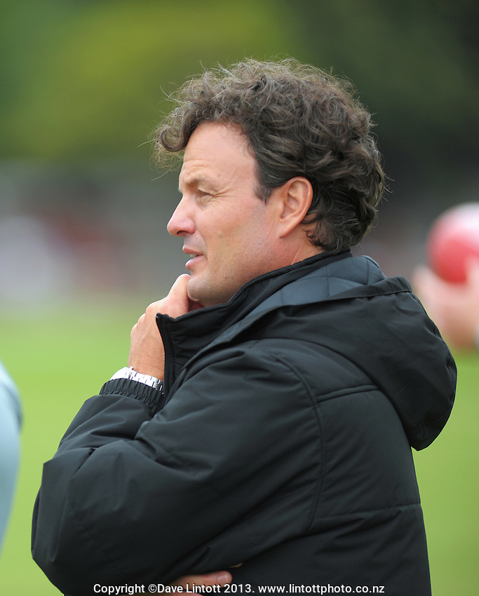 St Kilda AFL coach Scott Watters looks on during the Hurricanes Super 15 rugby training at Hutt Recreation Ground, Lower Hutt, Wellington, New Zealand on Thursday, 24 January 2013. Photo: Dave Lintott / lintottphoto.co.nz