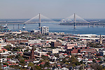 Arthur Ravenel Jr Bridge downtown Charleston SOuth Carolina Aerial Photogaphy