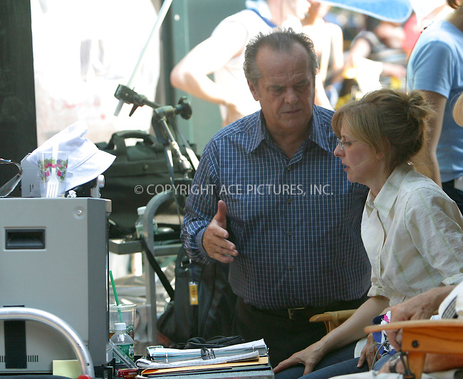 Jack Nicholson filming his latest yet untitled project directed by Nancy Meyers. New York, June 24, 2003. Please byline: NY Photo Press.   ..*PAY-PER-USE*      ....NY Photo Press:  ..phone (646) 267-6913;   ..e-mail: info@nyphotopress.com