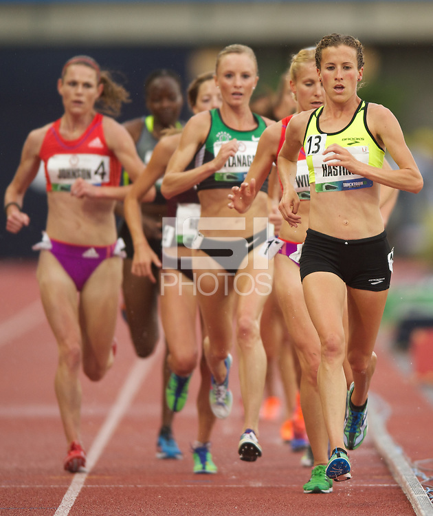 EUGENE, OR - June 22, 2012: The USA Track and Field Olympic Team Trials at Hayward Field in Eugene, Oregon on June 22, 2012.