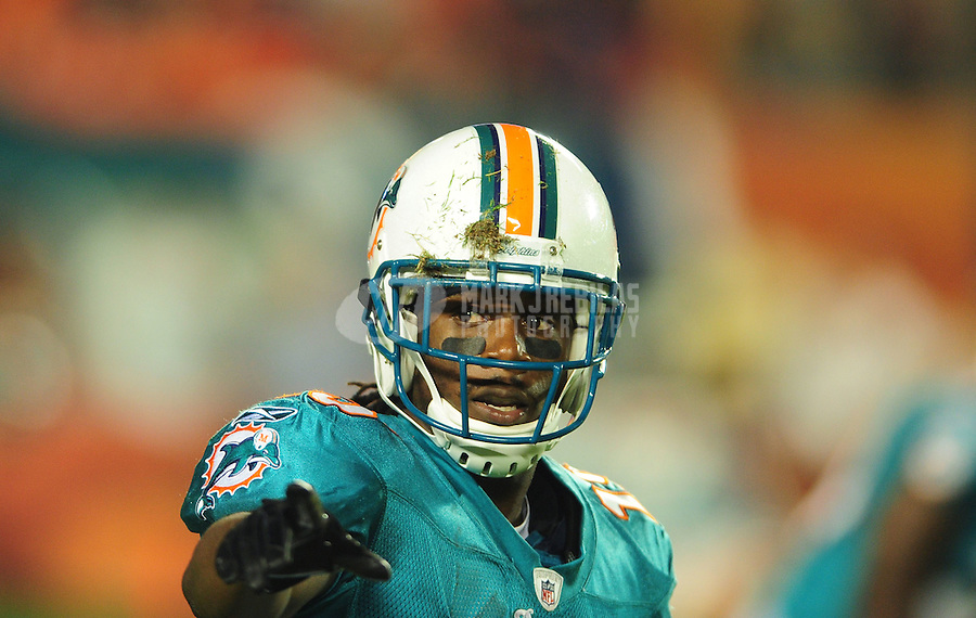 Nov. 18, 2010;  Miami, FL, USA; Miami Dolphins wide receiver (15) Davone Bess against the Chicago Bears at Sun Life Stadium. Mandatory Credit: Mark J. Rebilas-