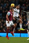 Cameron Carter-Vickers of Sheffield Utd and Gabriel Agbonlahor of Aston Villa during the Championship match at Villa Park Stadium, Birmingham. Picture date 23rd December 2017. Picture credit should read: Simon Bellis/Sportimage