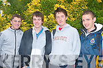 ENGLISH, PAPER 1: Getting ready for the English exam, students of CBS the Green on Wednesday morning just before the start of the 2008 Leaving Certificate l-r: John Keane, Eoin Scanlon, Robert Rusk and Luke Mulligan..   Copyright Kerry's Eye 2008