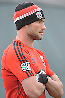 Midfielder Chris Pontius (13) of D.C. United   during the pre-season practice at the auxiliary fields at RFK Stadium, Thursday February 28, 2013.