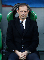 Calcio, Serie A: Sassuolo vs Juventus. Reggio Emilia, Mapei Stadium, 29 gennaio 2017. <br /> Juventus coach Massimiliano Allegri waits for the start of the Italian Serie A football match between Sassuolo and Juventus at Reggio Emilia's Mapei stadium, 29 January 2017<br /> UPDATE IMAGES PRESS/Isabella Bonotto