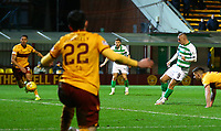 5th February 2020; Fir Park, Motherwell, North Lanarkshire, Scotland; Scottish Premiership Football, Motherwell versus Celtic; Leigh Griffiths of Celtic shoots to score and makes it 2-0 to Celtic in the 51st minute