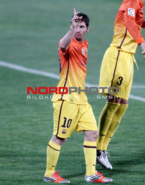 FC Barcelona's Lionel Messi celebrates goal during La Liga match.September 15,2012. Foto © nph / Acero) *** Local Caption ***