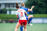 Boston, MA - Friday July 07, 2017: Arin Gilliland and Natasha Dowie during a regular season National Women's Soccer League (NWSL) match between the Boston Breakers and the Chicago Red Stars at Jordan Field.