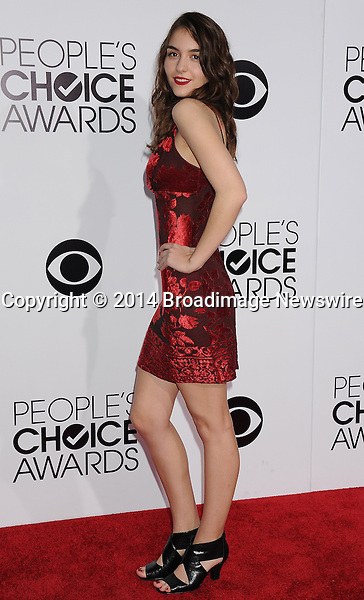 Pictured: Quinn Shephard<br /> Mandatory Credit &copy; Gilbert Flores /Broadimage<br /> 2014 People's Choice Awards <br /> <br /> 1/8/14, Los Angeles, California, United States of America<br /> Reference: 010814_GFLA_BDG_284<br /> <br /> Broadimage Newswire<br /> Los Angeles 1+  (310) 301-1027<br /> New York      1+  (646) 827-9134<br /> sales@broadimage.com<br /> http://www.broadimage.com