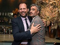 LOS ANGELES - SEPTEMBER 21: (L-R) Nick Grad, President, Original Programming, FX Entertainment, and Taika Waititi attend the FX Networks & Vanity Fair Pre-Emmy Party at Craft LA on September 21, 2019 in Los Angeles, California. (Photo by Frank Micelotta/FX/PictureGroup)