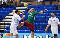 11 JUN 2010 - LONDON, GBR - Bulgaria's Yordan Mihaylov shoots during the teams match against Cyprus at their 2012 European Handball Championships Qualification Tournament.(PHOTO (C) NIGEL FARROW)