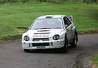 Jon Burn / Alan Stark near Junction 10 on the Gleaner Oil & Gas Cooper Park Special Stage 1 of the Gleaner Oil & Gas Speyside Stages Rally 2012, Round 6 of the RAC MSA Scotish Rally Championship which was organised by The 63 Car Club (Elgin) Ltd and based in Elgin on 4.8.12..........