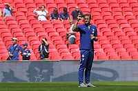 Chelsea's Rob Green takes a selfie while looking around the Stadium during Chelsea vs Manchester City, FA Community Shield Football at Wembley Stadium on 5th August 2018