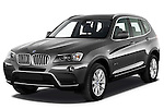 Front three quarter view of a 2011 BMW x3 xDrive35i SUV